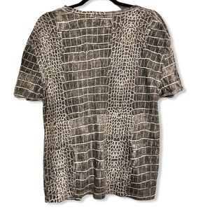 Free People Tops - Free People Python T Shirt Junior XS Gray New